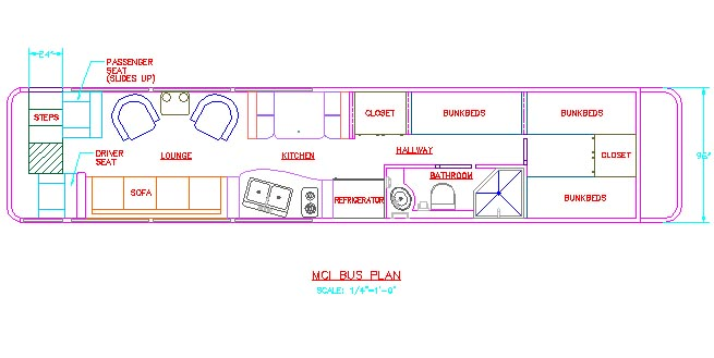 sample floorplans for bus conversion rh evolutioncustomcoach com Bus Plan Photoshop Plan Bus Stop